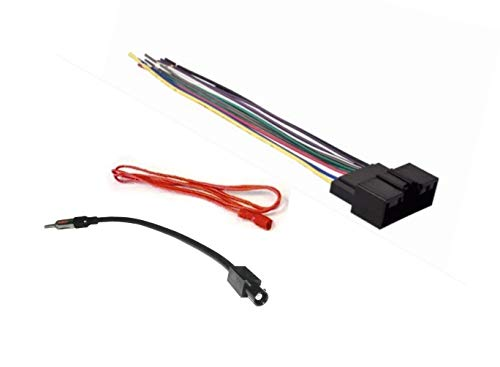 Car Stereo Radio Wire Harness and Antenna Adapter Combo to Install an Aftermarket Radio for Select Ford Vehicles - No Factory Premium Amp - See Compatible Vehicles Below