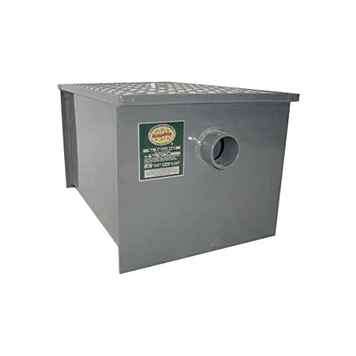 BK Resources BK-GT-20 Grease Trap, 20 LB. , 10GPM CAPACITY. Constructed of 11 gauge ca
