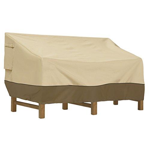 Classic Accessories 55-415-051501-00  Veranda Water-Resistant 104 Inch Deep Seated Patio Sofa/Loveseat Cover,Pebble,X-Large