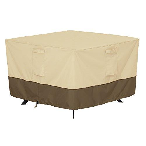 Classic Accessories 55-566-011501-00  Veranda Water-Resistant 40 Inch Square Patio Table Cover,Pebble,Medium
