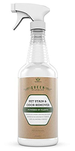 TriNova Natural Pet Stain and Odor Remover Eliminator - Advanced Enzyme Cleaner Spray - Remove Old & New Pet Stains & Smells for Dogs & Cats - All-Surface Safe - 32 OZ …