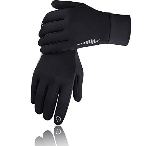 SIMARI Winter Gloves for Men Women,Keep Warm Touch Screen, 102 Black, Size Large