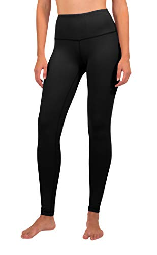90 Degree By Reflex - High Waist Power Flex Legging – Tummy Control - Black Large