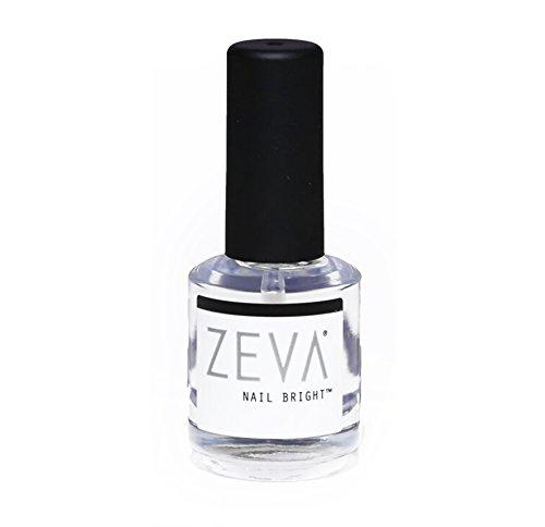ZEVA Nail Bright – One-Step Salon Grade French Manicure Fingernail & Toenail Polisher & Whitener – Quick Dry White & Pink Polish & Brightener For Nails