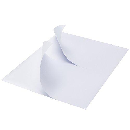 MFLABEL Half Sheet Self Adhesive Shipping Labels for Laser & Inkjet Printers, 200 Count