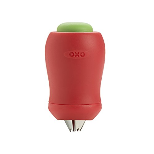 OXO 11111900 Good Grips Easy-Release Strawberry Huller and Tomato Corer,Red,1-3/8 in L x 1-3/8 in W x 2-3/4 in H