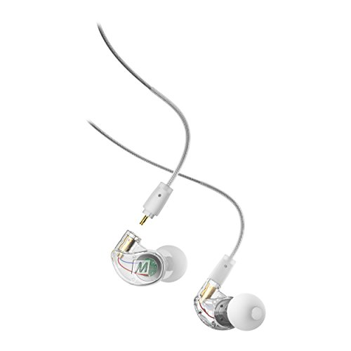 MEE audio M6 PRO Musicians' In-Ear Monitors with Detachable Cables; Universal-Fit and Noise-Isolating (2nd Generation) (Clear)