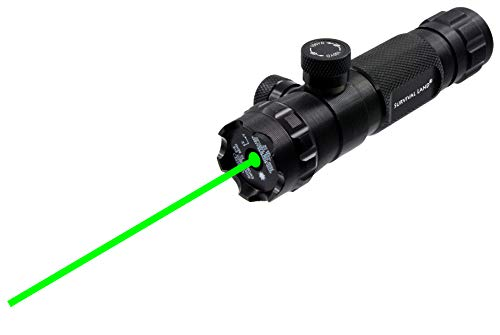 """Survival Land LS-300 Shockproof 532nm Tactical Green Laser Sight, Rifle Gun Scope – Includes 20mm Picatinny Rail, 1"""" Barrel Mounts and Remote Pressure Switch"""