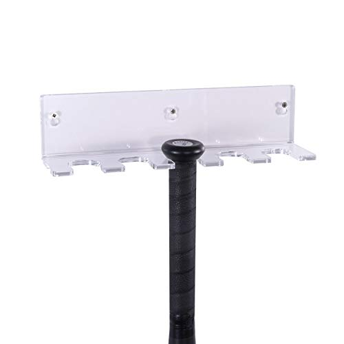 FEMELI Baseball Bat Holder Wall Mount,Acrylic Softball Bat Storage Rack (Vertical)