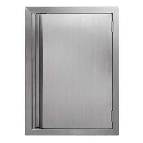 BI-DTOOL Single BBQ Access Door 304 Stainless Doors for Indoor/Outdoor Kitchen, Outdoor Cabinet, Barbeque Grill or BBQ Island(17' W x 24' H)