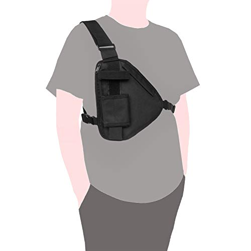 Radio Holder Case Pouch Tactical Chest Holster Rig Chest Outdoor Two Way Walkie Talkies Nylon Holster Accessories