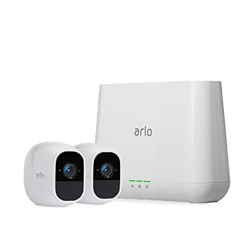 Arlo Pro 2 - Wireless Home Security Camera System with Siren   Rechargeable, Night vision, Indoor/Outdoor, 1080p, 2-Way Audio, Wall Mount   Cloud Storage Included   2 camera kit (VMS4230P)