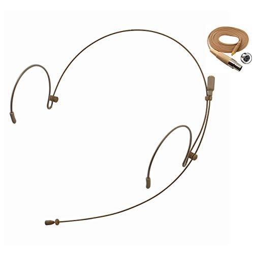 Pro Earhook Headset Headworn Microphone JK MIC-J 071S Compatible with Shure Wireless System - Mini XLR TA4F Detachable Cable