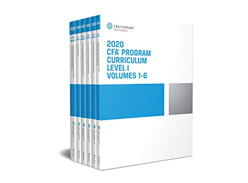 CFA Program Curriculum 2020 Level I Volumes 1-6 Box Set (CFA Curriculum 2020)
