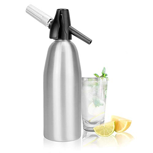 1L Aluminium Soda Siphon | Fizz Maker | Soda Machine | Seltzer Water Creator | Carbonated Water Dispenser | Fizzy Beverage Maker | Carbonator | M&W