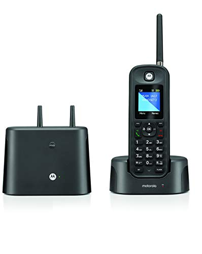Motorola O211 DECT 6.0 Long Range Cordless Phone, Water & Dust Resistant, IP67 Certified, Black, 1 Handset
