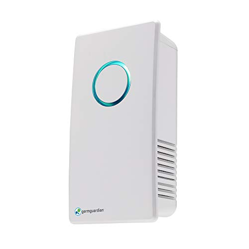 GermGuardian GG1100W Elite Pluggable UVC Air Sanitizer and Deodorizer, Kills Germs, Freshens Air and Reduces Odors from Pets, Smoke, Mold, Cooking and Laundry, Germ Guardian Air Purifier