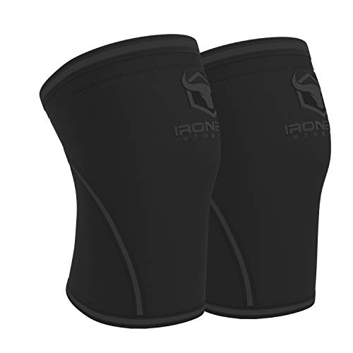 Knee Sleeves 7mm (1 Pair) - High Performance Knee Sleeve Support For Weight Lifting, Cross Training & Powerlifting - Best Knee Wraps & Straps Compression - For Men and Women (Black/Charcoal, Small)
