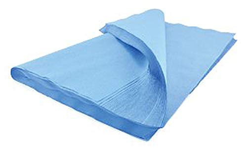 Sterilization Wrap 24' x 24'. Case of 500 Blue Autoclave Wraps for instruments and equipment. Natural cellulose. Non-sterile, Latex-free. For Steam and Ethylene Oxide (EO) Sterilization.