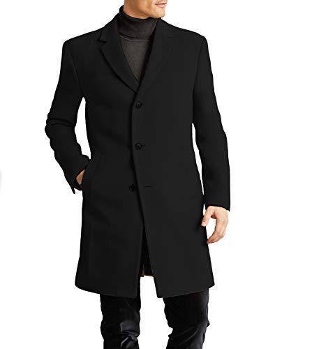 Tommy Hilfiger Men's All Weather Top Coat, Black, 40R
