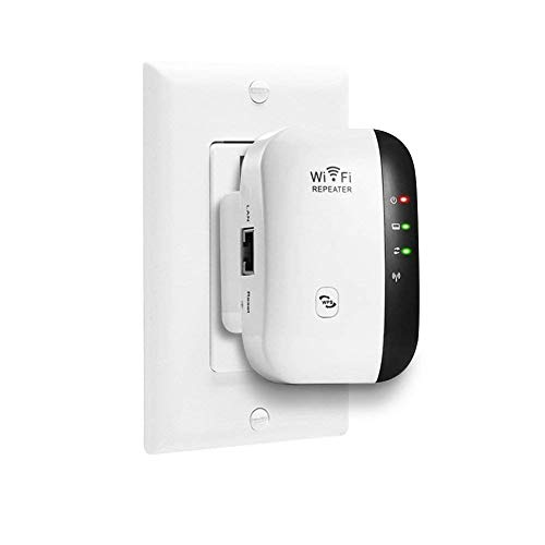 Super Boost WiFi, WiFi Range Extender   Up to 300Mbps  Repeater, WiFi Signal Booster, Access Point   Easy Set-Up   2.4G Network with Integrated Antennas LAN Port & Compact Designed Internet Booster
