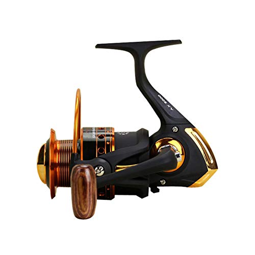 Yumos Fishing reels Spinning Reels, 12 +1 BB Light Weight, Smooth Powerful, Size 500 is Perfect for Ultralight/Ice Fishing. Freshwater Saltwater (AX-500)