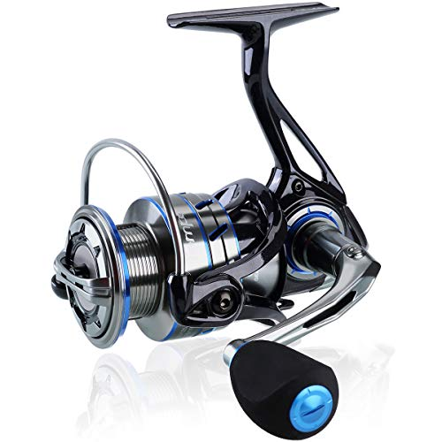 Tempo Apex Spinning Reel, Ultralight Premium Magnesium Body, Super Smooth Fishing Reel with 10 + 1 BB, Powerful and Durable Reel with Strong 39lb Max Carbon Fiber Drag