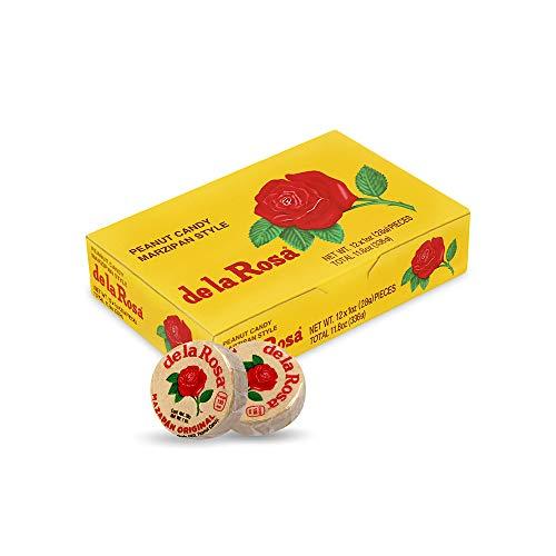 De la Rosa Mazapan, Mexican Original Peanut Candy, Regular and covered in chocolate (Regular, Pack of 12)