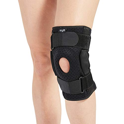 Hinged Knee Brace for Men and Women, Knee Support for Swollen ACL, Tendon, Ligament and Meniscus Injuries