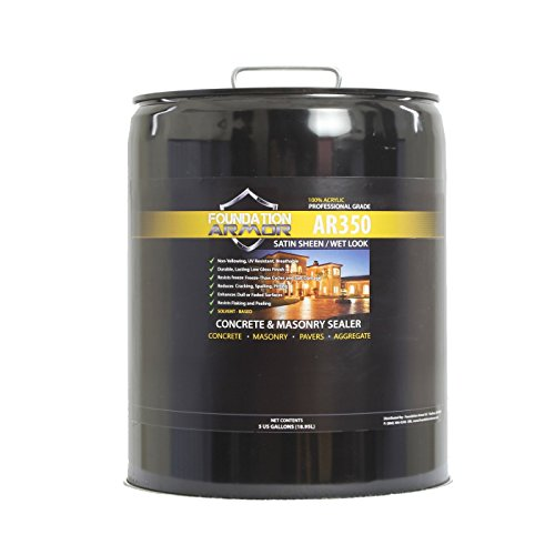 5 GAL Armor AR350 Solvent Based Acrylic Wet Look Concrete Sealer and Paver Sealer