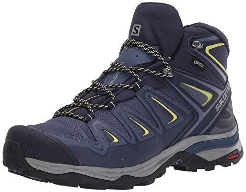 Salomon Women's X Ultra 3 MID GTX W Hiking, Crown Blue/Evening Blue/Sunny Lime, 8