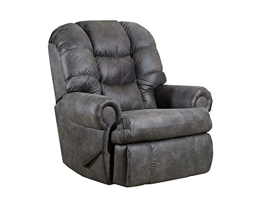 Lane Stallion Big Man (Extra Large) Comfort King (Power Recline) Wallsaver Recliner in Dorado Charcoal. Made for The Big Guy Or Gal. Rated for Up to 500 Lbs. Ext. Length. 79'. Seat Width. 25'. 4501P