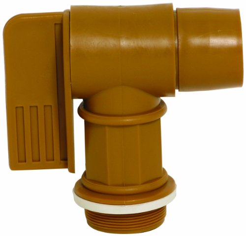 Wesco 272176 Polyethylene Drum Faucet with EPDM Gasket, 2' NPT Connection