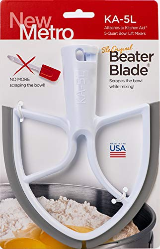 Original Beater Blade for 5-Quart KitchenAid Bowl Lift Mixer, , White, Made in the USA