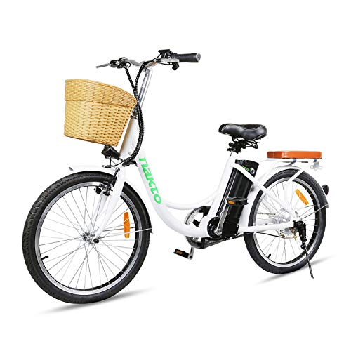 NAKTO 22' Electric Bike 250W Electric Bicycle Sporting City Bike with 36V 10Ah Lithium Battery