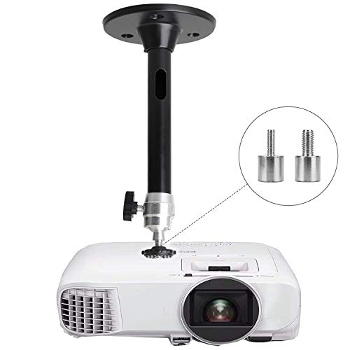 Mini Ceiling Wall Projector Mount  for QKK, DR.J Upgrade, DBPOWER, Anker, AAXA Technologies, Artlii, LoongSon, APEMAN and Most Other Mini Projector 175mm, Black