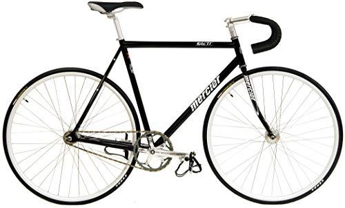 Kilo TT Mercier Reynolds 520 Steel Single Speed Track Bike Fixie Fixed Gear Bicycle (Black, 60cm(c-c) = 63cm(c-t) fits Most 6'6' to 6'8')