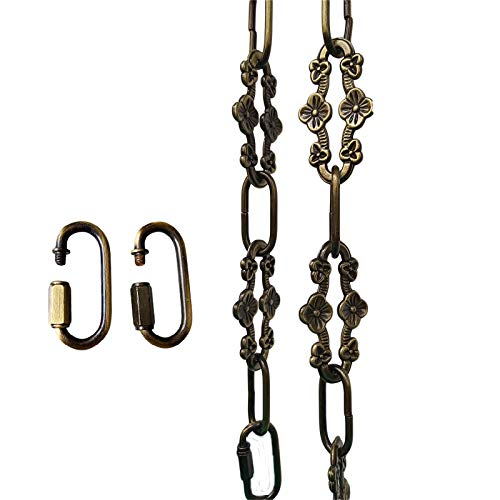 WOERFU 32 inch Antique Bronze Finish Decorative Plum Buckle Chain for Hanging, Lighting