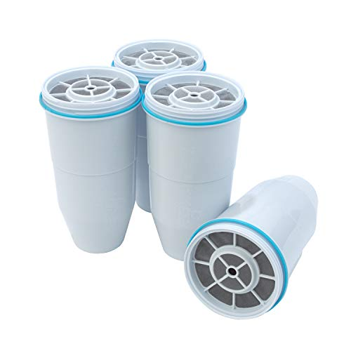 ZeroWater Replacement Filters 4-Pack BPA-Free Replacement Water Filters for ZeroWater Pitchers and Dispensers NSF Certified to Reduce Lead and Other Heavy Metals