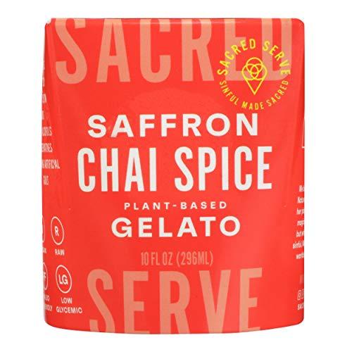 Sacred Serve, Gelato Plant Based Saffron Chai Spice, 10 Fl Oz