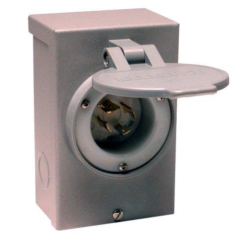 Reliance Controls Corporation PB20 20-Amp NEMA 3R Power Inlet Box for Generators Up to 5,000 Running Watts,Gray