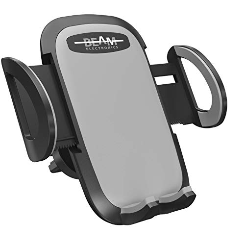 Beam Electronics Universal Smartphone Car Air Vent Mount Holder Cradle Compatible With iPhone XS XS Max XR X 8 8+ 7 7+ SE 6s 6+ 6 5s 4 Samsung Galaxy S10 S9 S8 S7 S6 S5 S4 LG Nexus Nokia and More