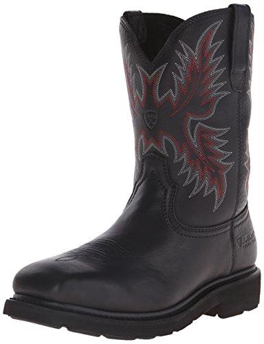 Ariat Men's Sierra Wide Square Steel Toe Work Boot, Black, 9.5 D US