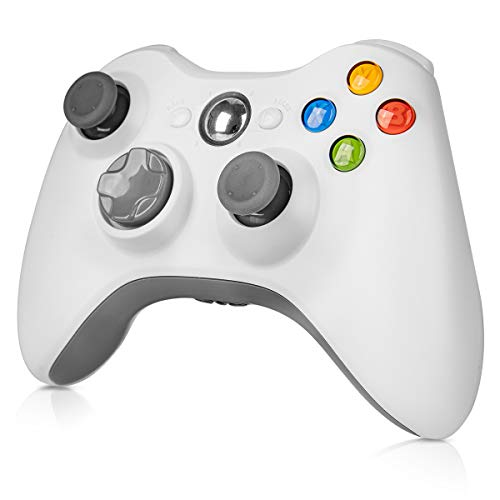 Wireless Controller for Xbox 360, WeiCheng Gamepads Joystick Joypad Remotes Controller Wireless for Xbox 360 Microsoft, Windows7/8/10, 2.4Ghz, White