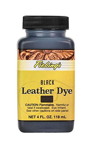 Fiebing's Leather Dye - Alcohol Based Permanent Leather Dye - 4 oz - Black