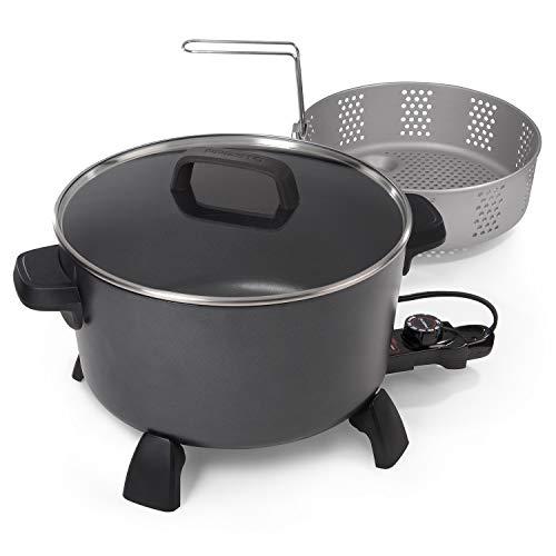 National Presto 10-quart Kitchen Kettle XL steamer Multi-Cooker, Black
