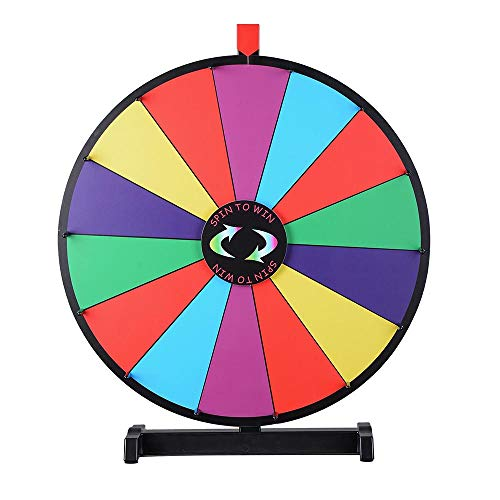 WinSpin 24' Tabletop Spinning Prize Wheel 14 Slots with Color Dry Erase Trade Show Fortune Spin Game