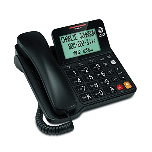 AT&T CL2940 Corded Phone with Caller ID/Call waiting, Speakerphone, XL Tilt Display, XL Buttons & Audio Assist Volume Boost