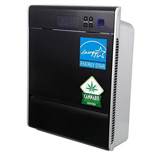 LIFE CELL 2550 5-Stage HEPA & CARBON Air Purifier with Washable Prefilter, 2-stage 99.97% HEPA filter and a 2-stage granular ACTIVATED CARBON (2 lbs) filter for larger spaces up to 2,500ft2