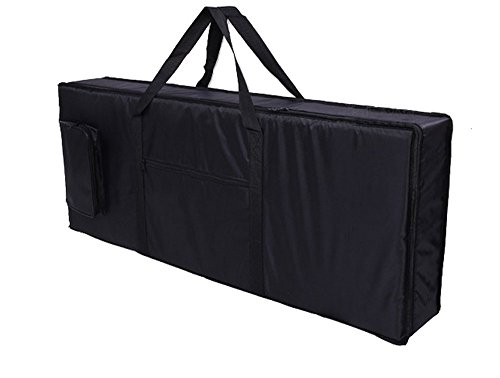 Tosnail 61-note Keyboard Gig Bag Piano Case Padded with 6mm Cotton - 39'' x 16' x 6'' (61 Note Keyboard)